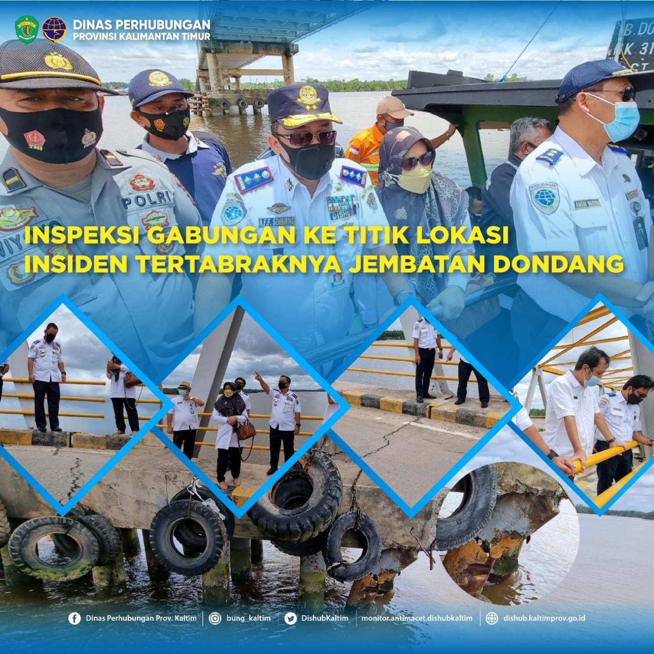 Inspeksi Gabungan ke Titik Lokasi Insiden Tertabraknya Jembatan Dondang.
