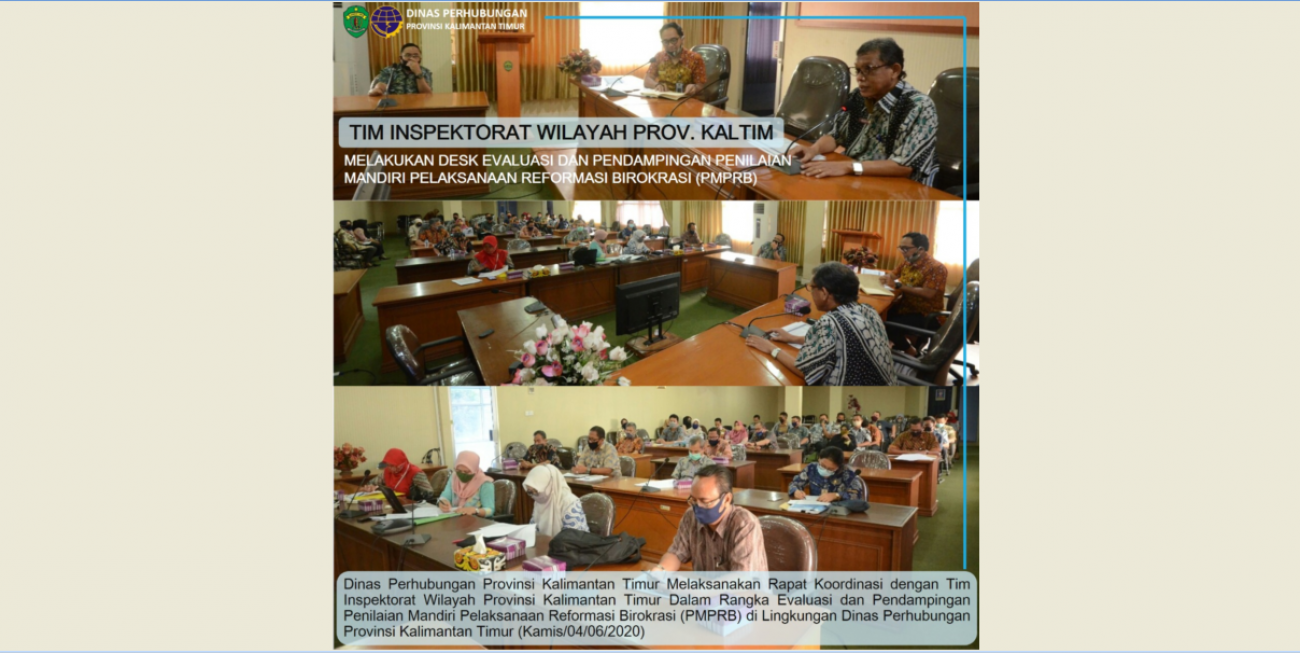 Penilaian Mandiri Pelaksanaan Reformasi Birokrasi (PMPRB) di Lingkungan Dinas Perhubungan Prov. Kaltim
