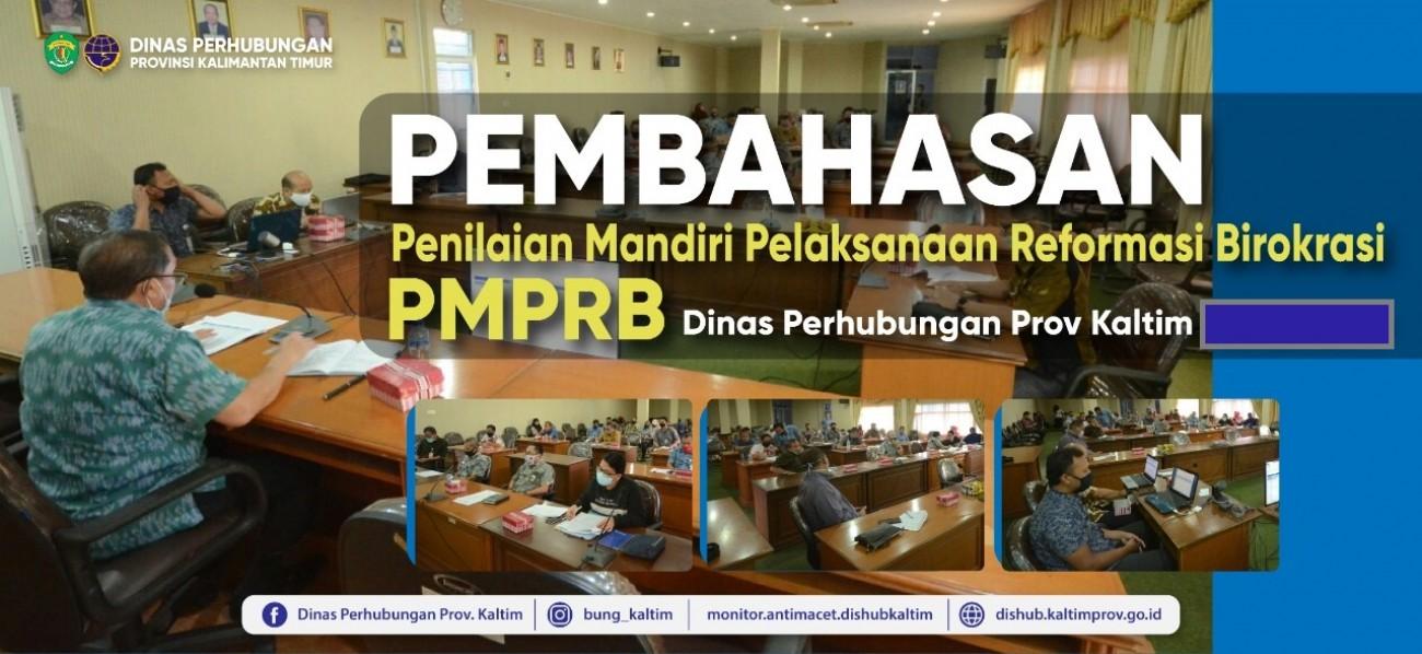 Rapat Pembahasan Hasil Penilaian Kegiatan PMPRB di Lingkungan Dishub Prov. Kaltim