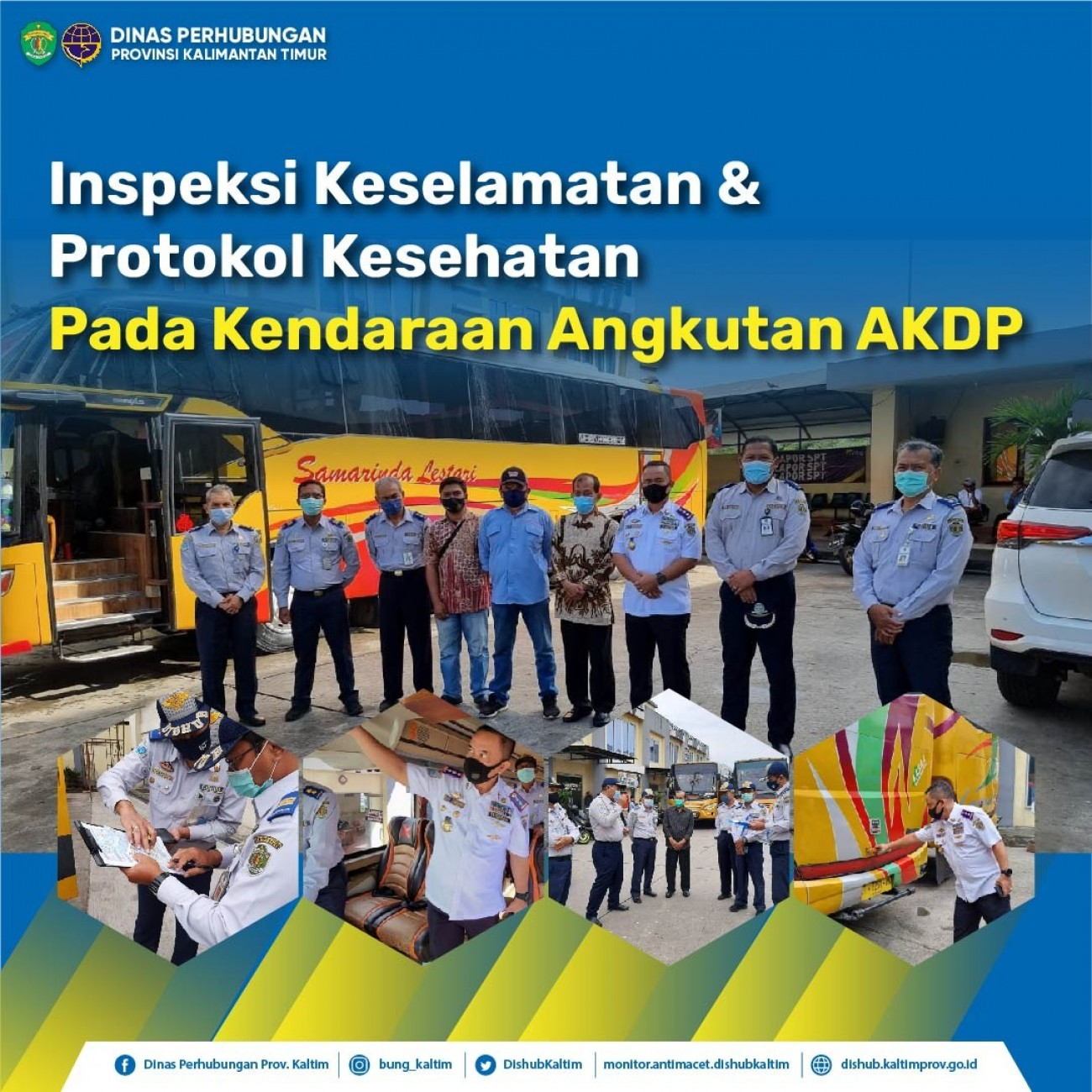 Inspeksi Keselamatan & Protokol Kesehatan Pada Kendaraan Angkutan AKDP