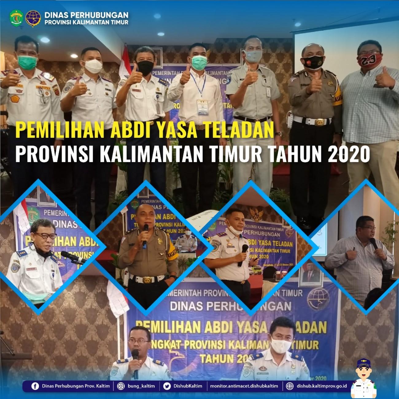 PEMILIHAN ABDI YASA TELADAN TINGKAT PROVINSI KALIMANTAN TIMUR TAHUN 2020