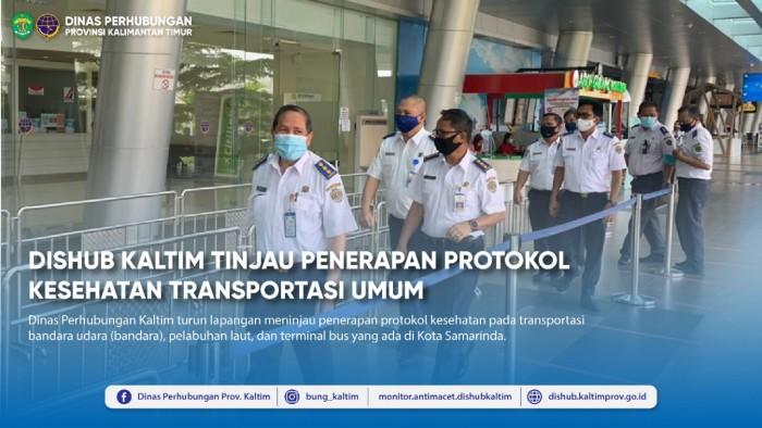 Dishub Kaltim Tinjau Penerapan Protokol Kesehatan Transportasi Umum