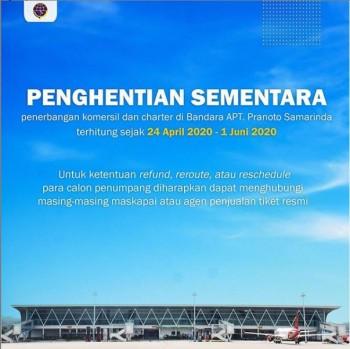 Penghentian Sementara Penerbangan Komersil dan Charter