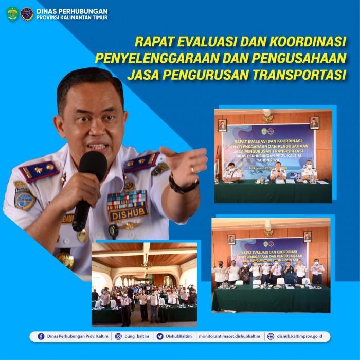 Rapat Evaluasi Dan Koordinasi Penyelenggaraan Dan Pengusahaan Jasa Pengurusan Transportasi