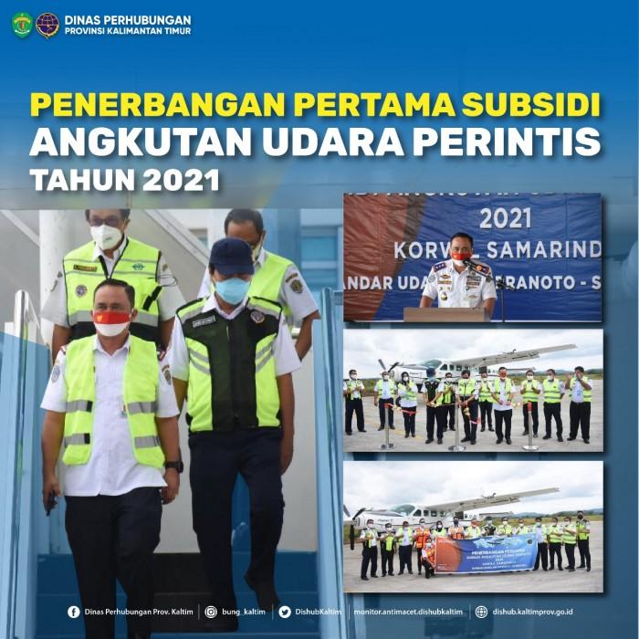 Penerbangan Perdana Subsidi Angkutan Udara Perintis 2021